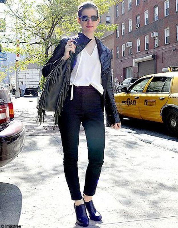 Mode defiles New York street style 16