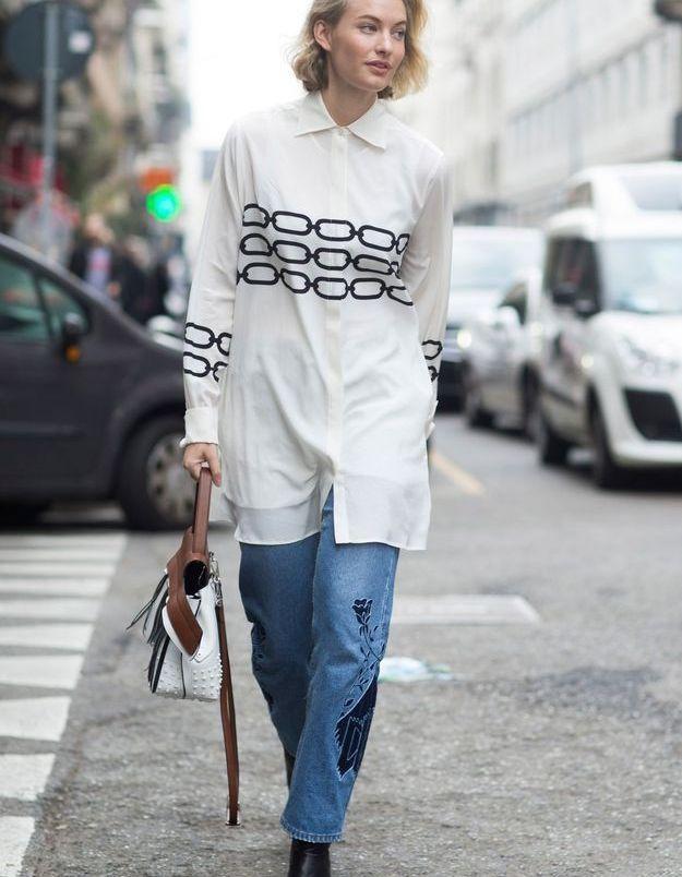 Robe chemise et jean