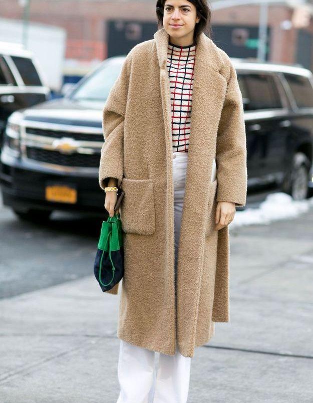 Look d'hiver avec long manteau