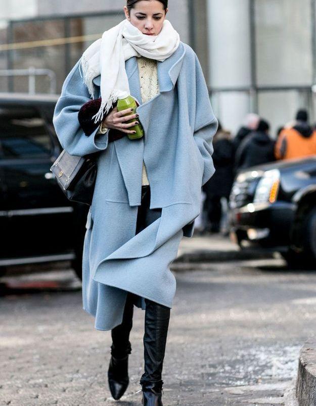 Look d'hiver avec manteau oversize
