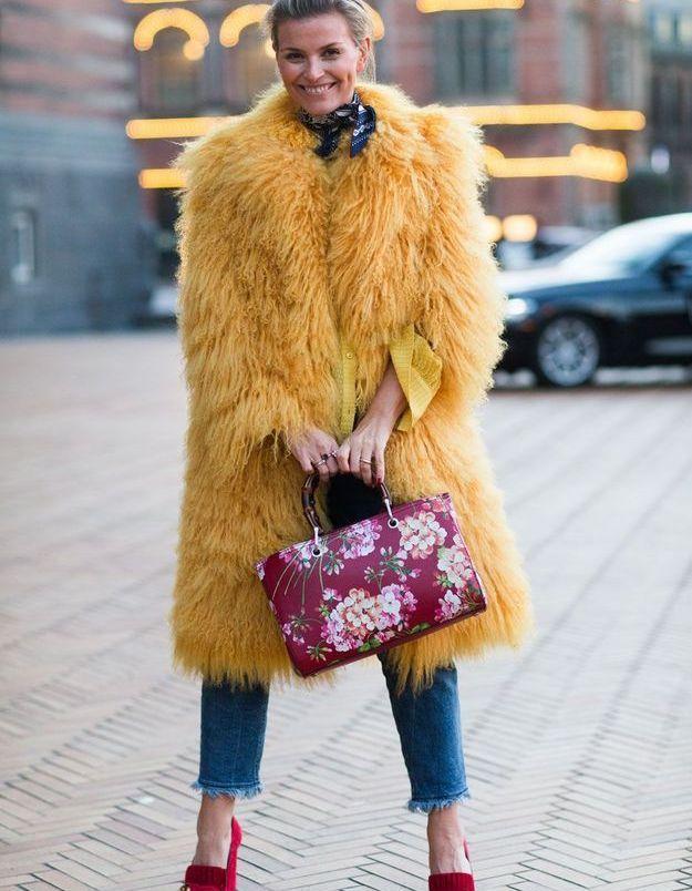 Look d'hiver coloré