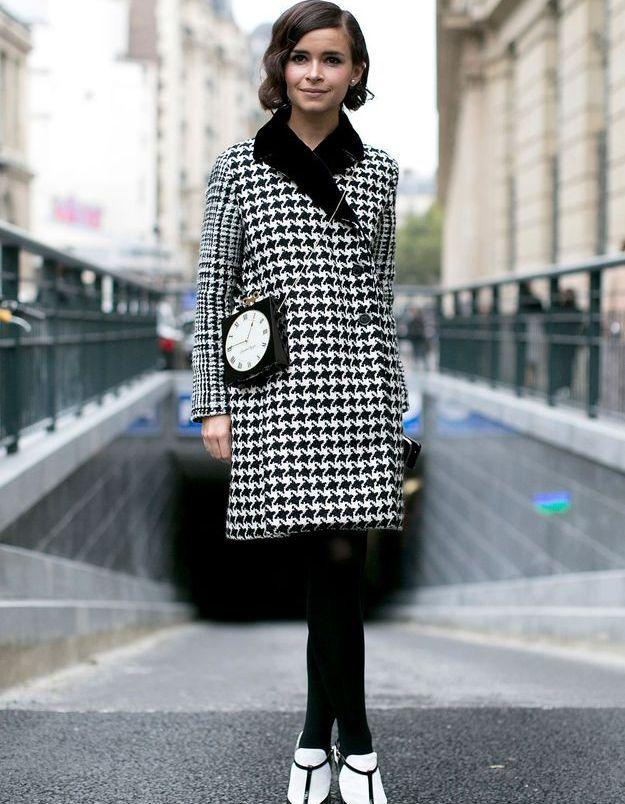 Look vintage noir et blanc