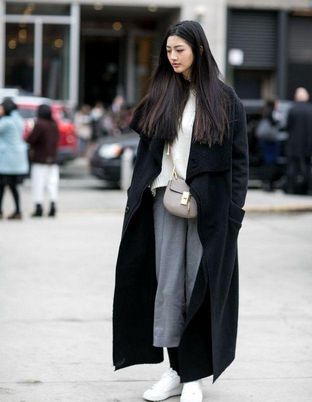 Look minimaliste pour le week-end