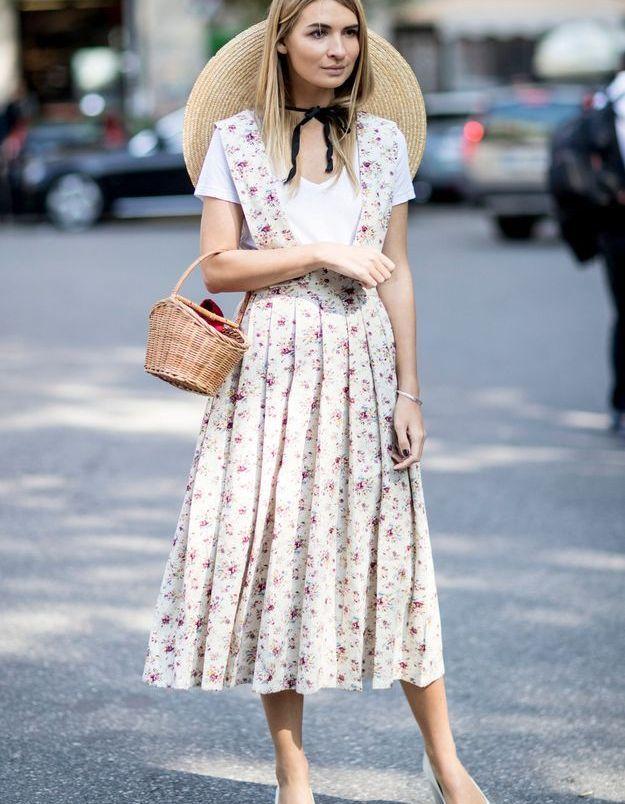 Une robe fleurie