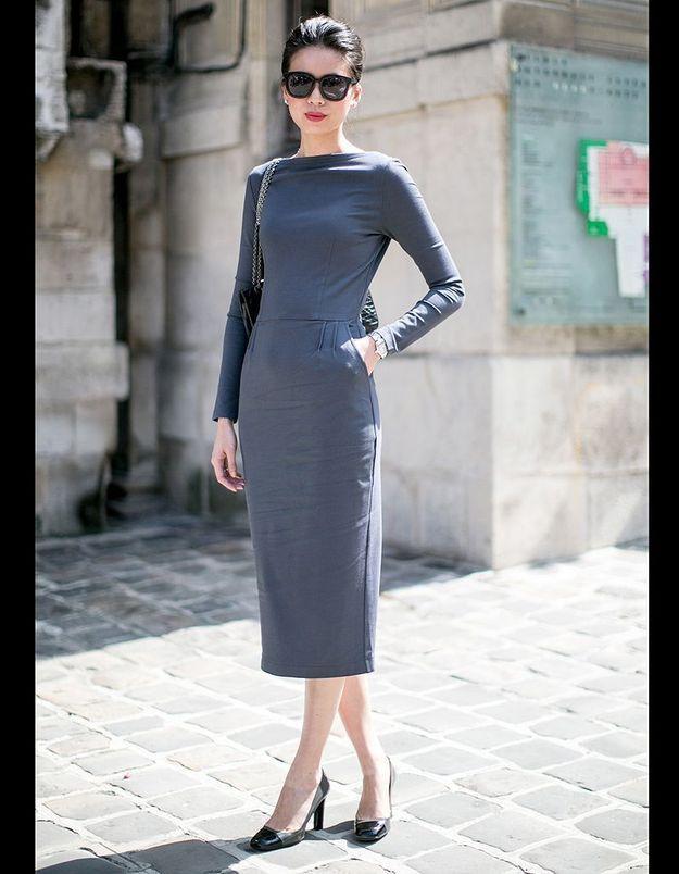 La robe fourreau