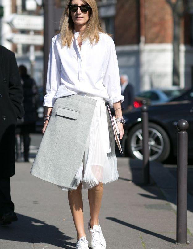 La chemise blanche arty