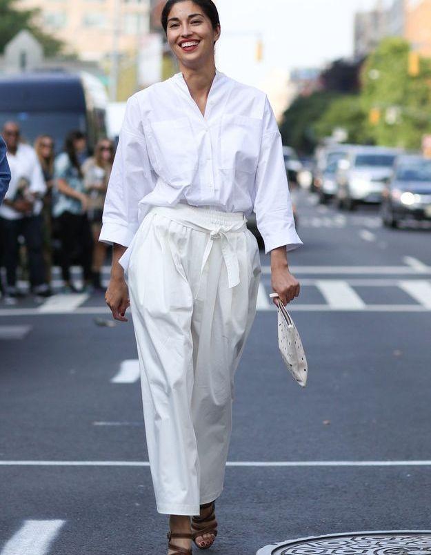 La chemise blanche oversize