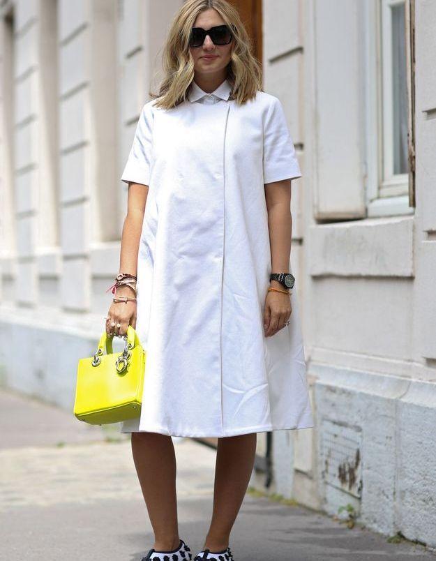 La chemise blanche ton sur ton