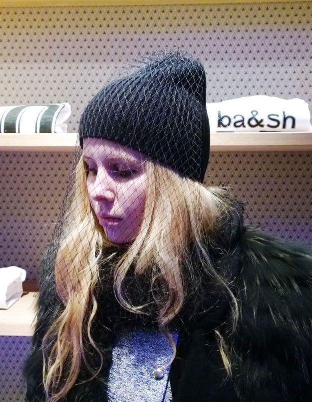 Le bonnet à voilette Claudie Pierlot de Léa