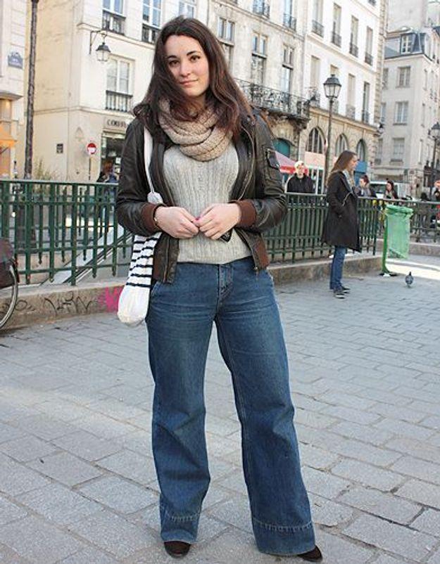 Mode street style tendance look jean Maelle
