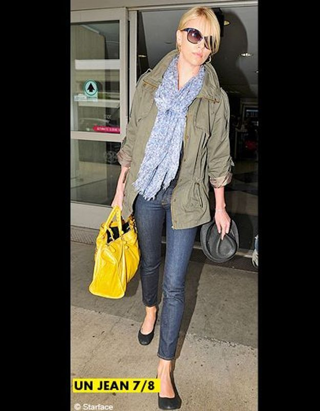 Mode tendance shopping jean look jean 7 8 charlize theron