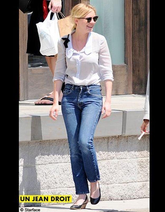 Mode tendance shopping jean look jean droit kirsten dunst