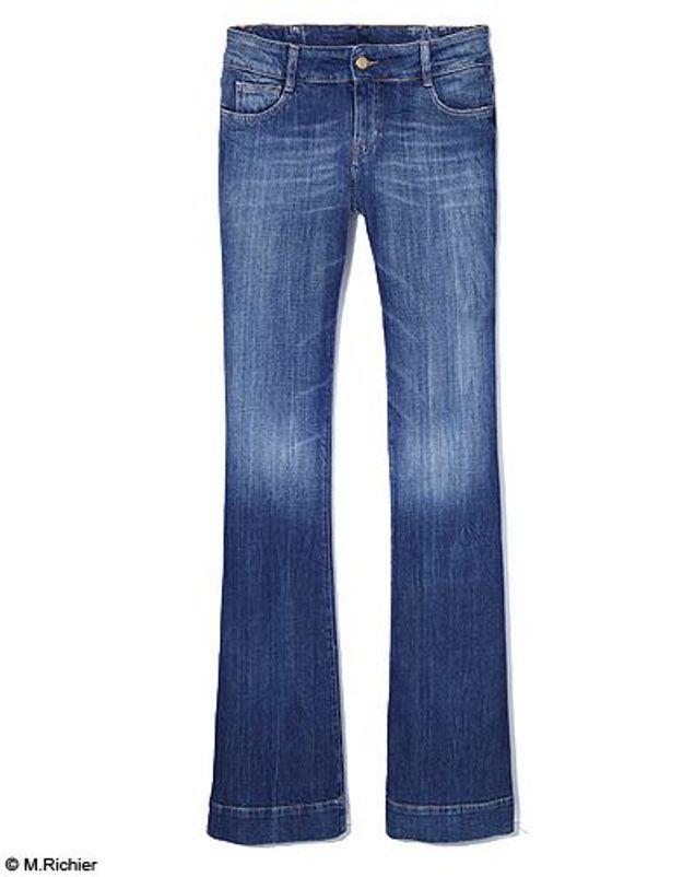 Mode tendance shopping jean look jean flare acquaverde