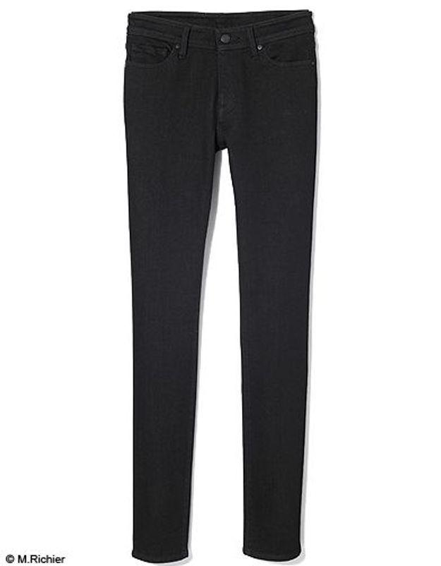 Mode tendance shopping jean look jean noir blanc uniqlo