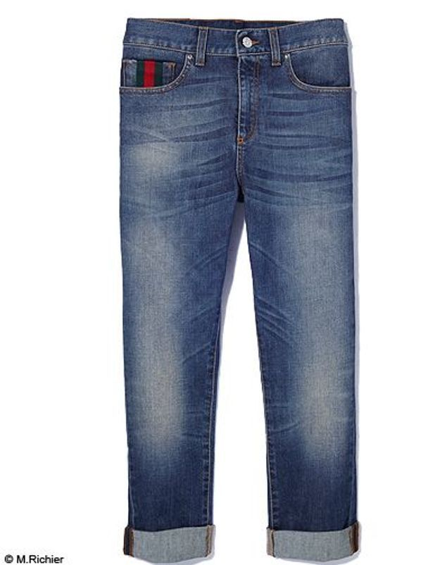 Mode tendance shopping jean look jean revers gucci