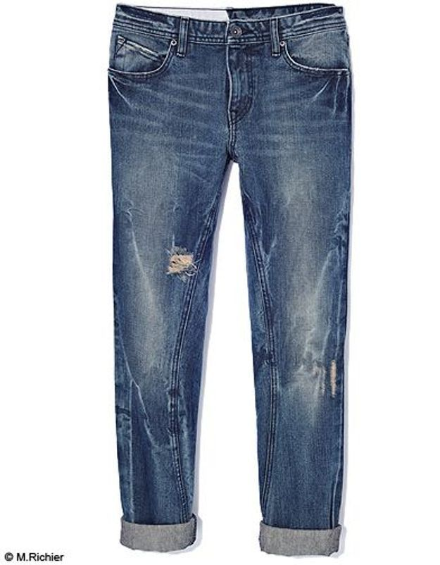 Mode tendance shopping jean look jean revers volcom