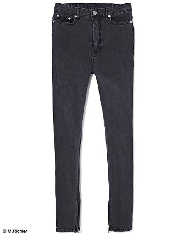 Mode tendance shopping jean look jean slim black denim