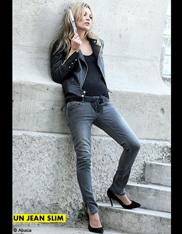 Mode tendance shopping jean look jean slim kate moss