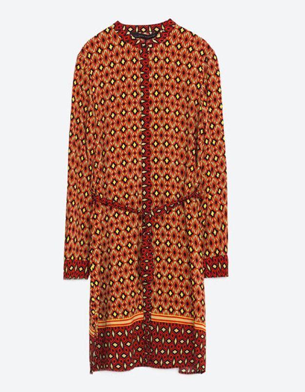 Robe pour morphologie en H Zara