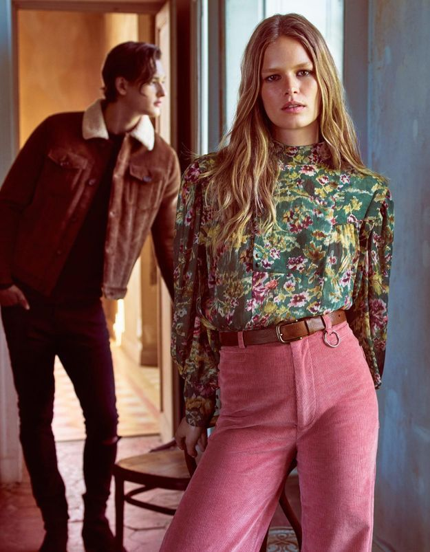 mode pantalon velours femme