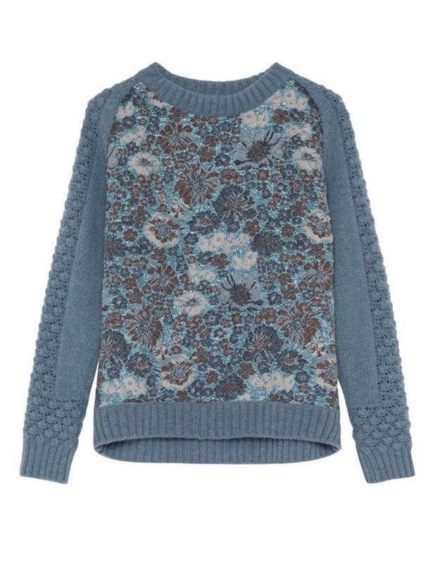 Pull en laine à fleurs Paul & Joe