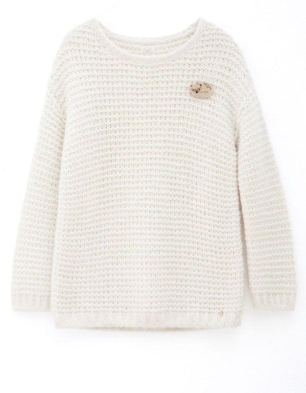 Pull en laine blanc Des Petits Hauts