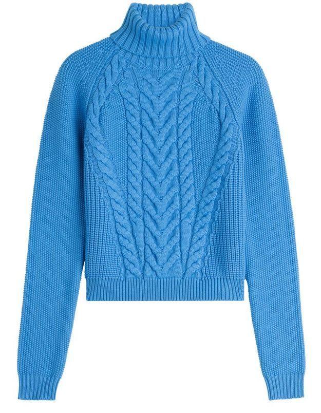 Pull en laine bleu Carven