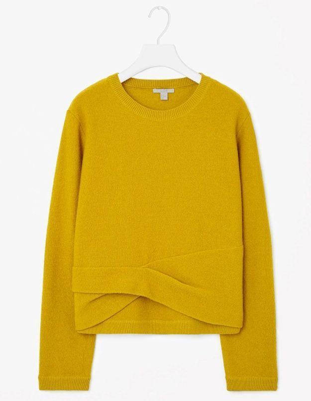 Pull en laine jaune Cos