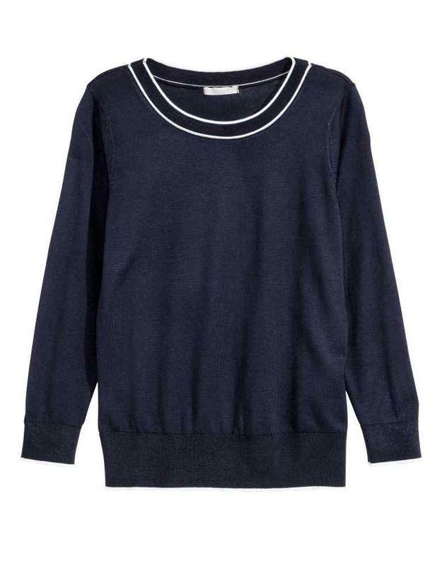 Pull bleu marine H&M