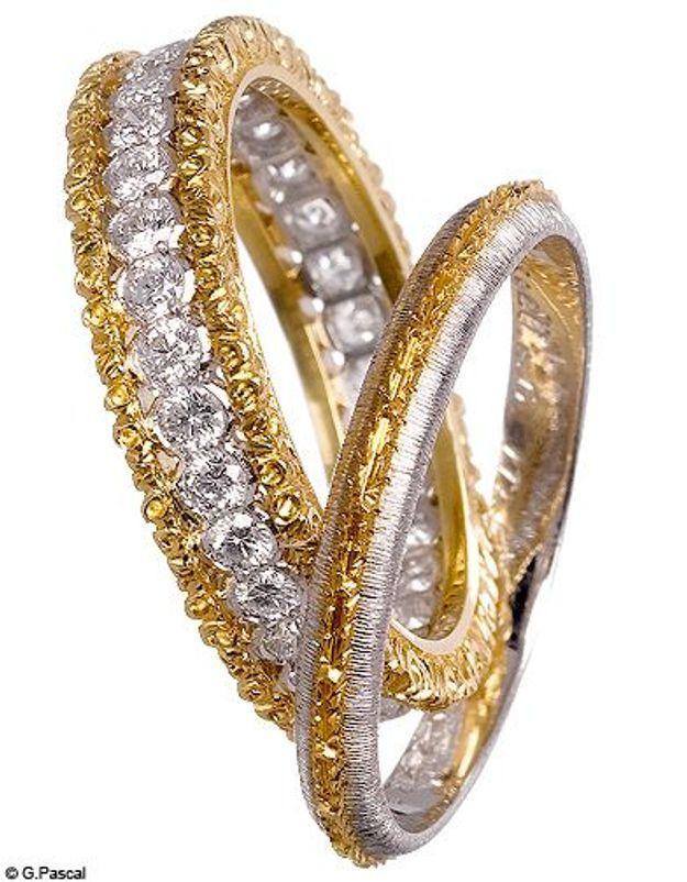 Mode diaporama accessoire bijoux mariage alliance buccellati
