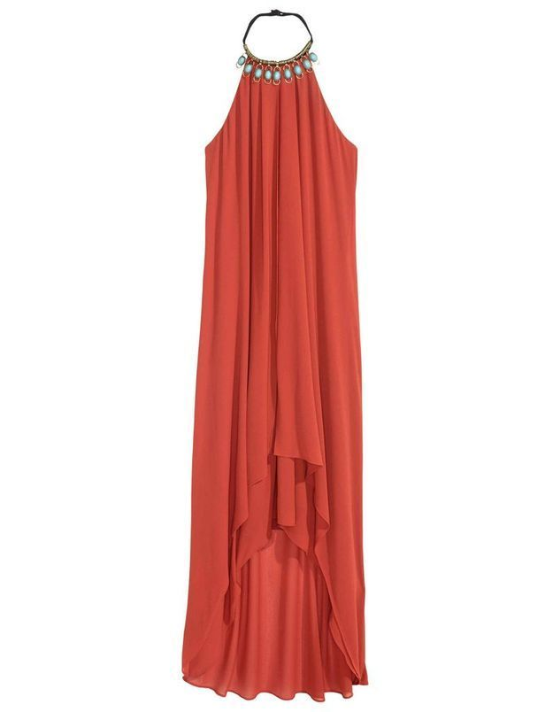 Robe de cocktail corail H&M