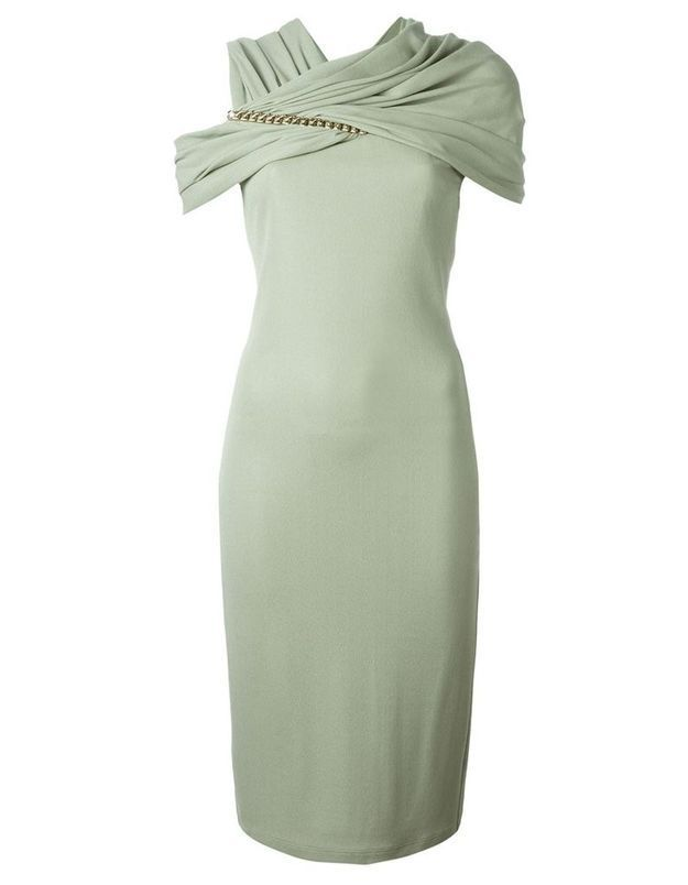 Robe de cocktail vert anis Givenchy