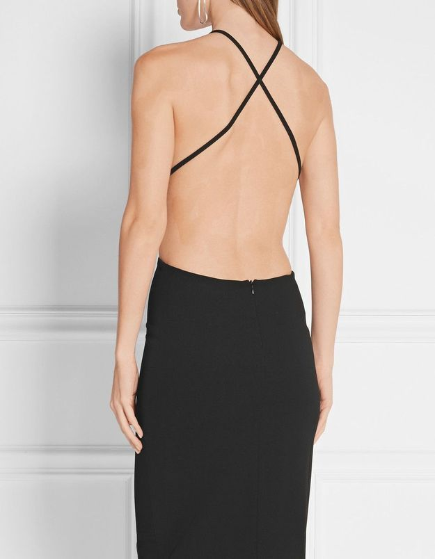 Robe dos nu noire Solace London