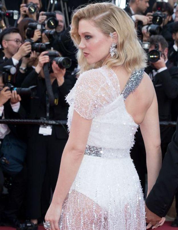 Léa Seydoux en robe transparente