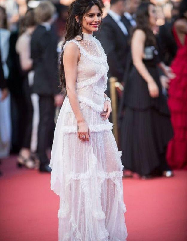Cheryl Cole en robe transparente