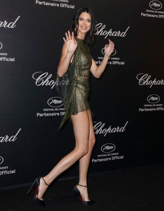 Kendall Jenner en robe transparente