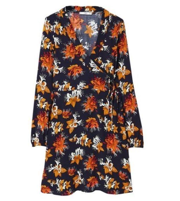 Robe automne à fleurs Mango