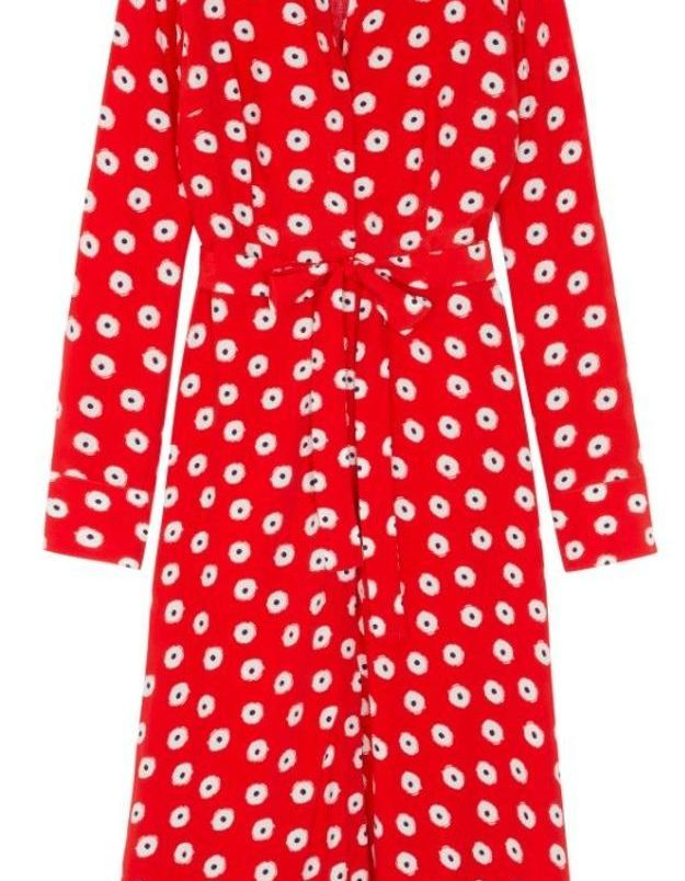 Robe boutonnée rouge Boden