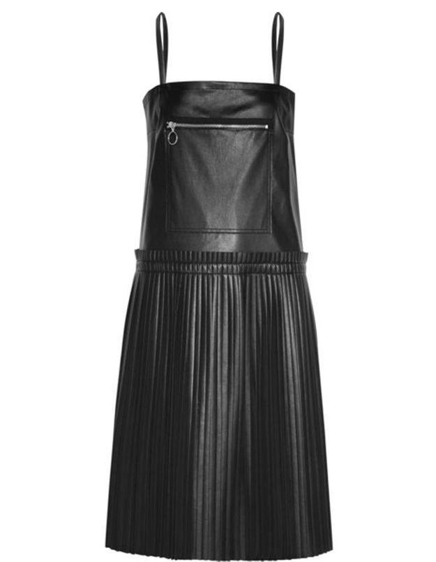 Robe chasuble en cuir MM6 Maison Margiela