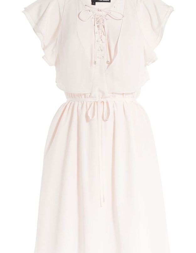 Robe en soie beige The Kooples