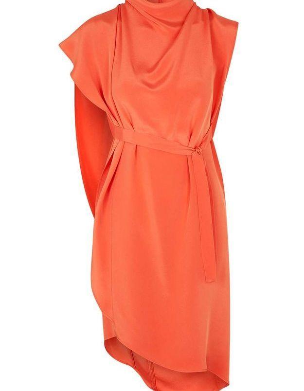 Robe en soie orange Topshop