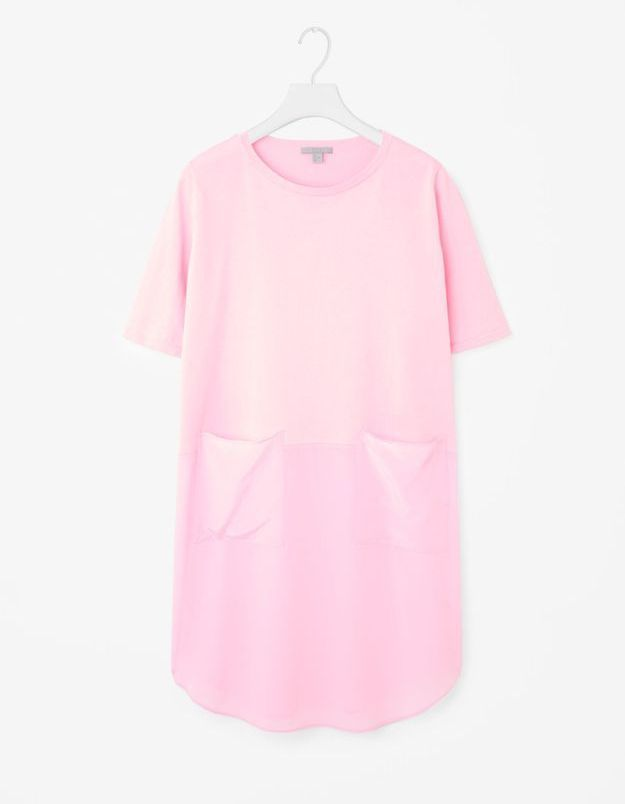 Robe en soie rose Cos