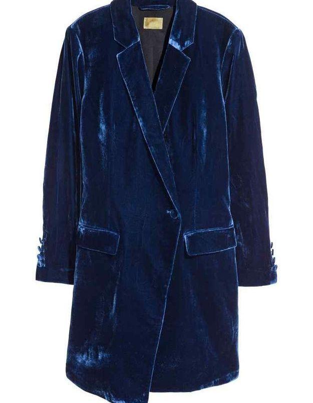 Robe en velours blazer H&M