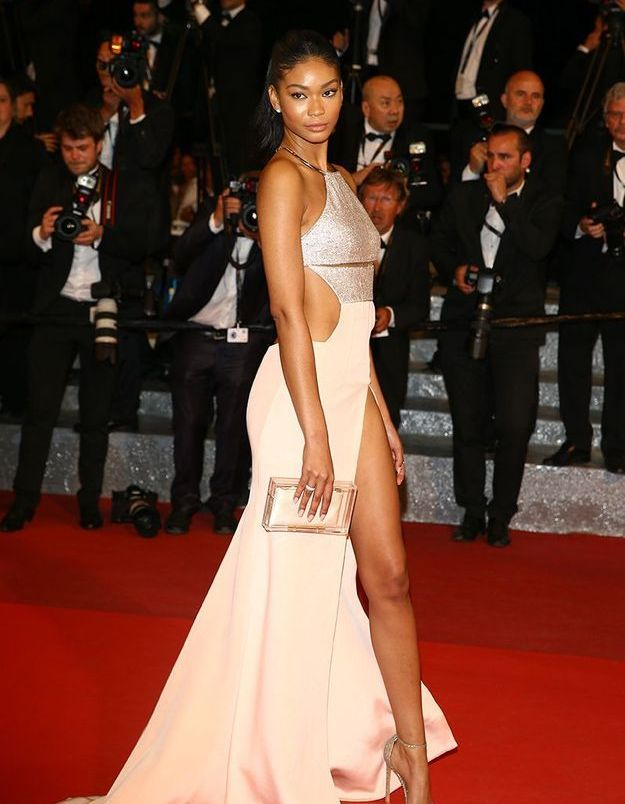 La robe fendue de Chanel Iman