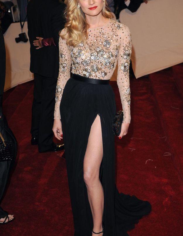 La robe fendue de Diane Kruger