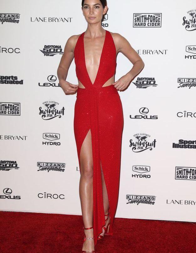 La robe fendue de Lily Aldridge