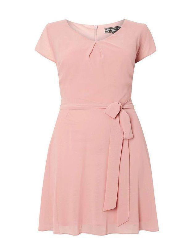 Robe grande taille rose Dorothy Perkins
