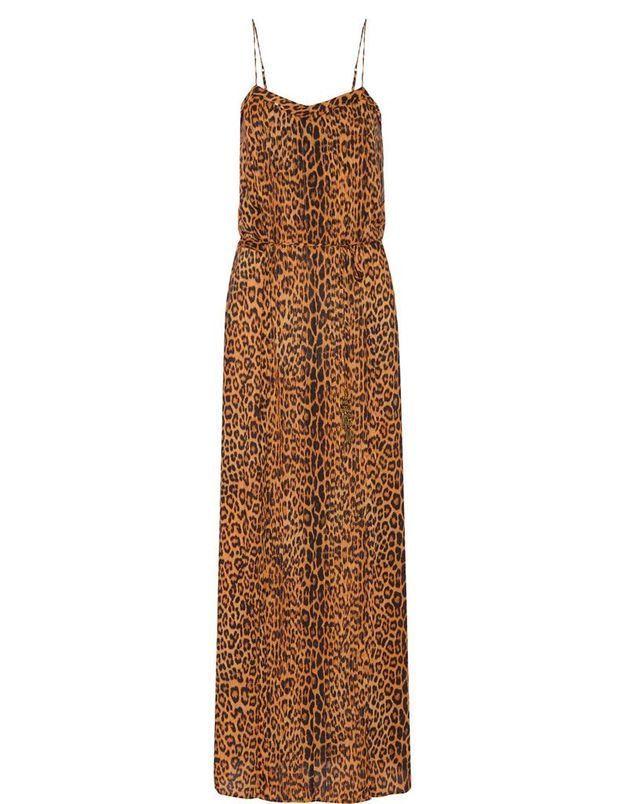 Robe imprimée léopard Vix