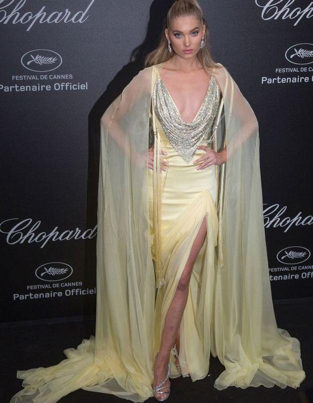 La robe glamour d'Elsa Hosk