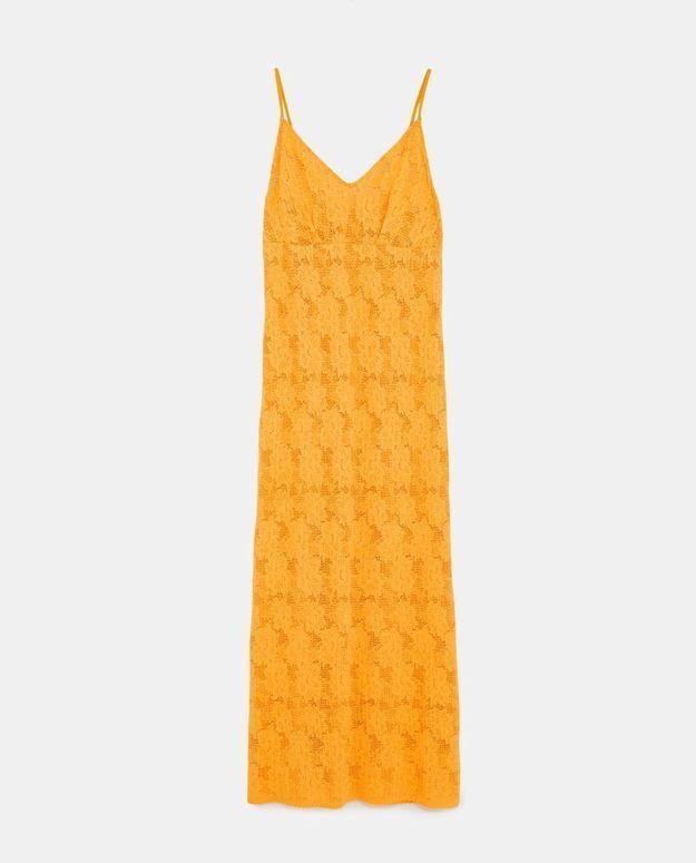Robe jaune Zara